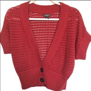 Kenneth Cole Reaction Red Shrug Sweater
